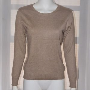 Sweaters - Beige Brown Cashmere Wool Sweater Pullover S NEW